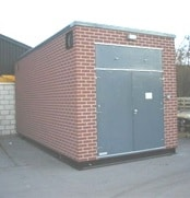 Brick effect portable relay room /packaged substation