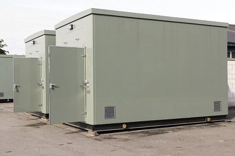 Twin portable relay rooms / packaged substations